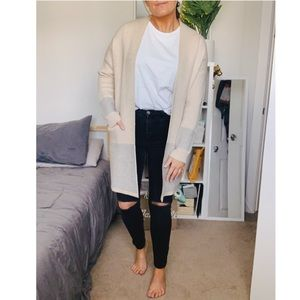 Knee length cardigan